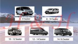 York Minibus Hire 8 to 16 seat minibus